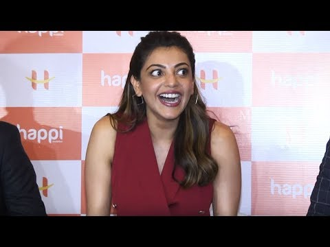 Actress Kajal Aggarwal Superb Answers To Media In Telugu | Interacting With Media @ Happi Mobiles