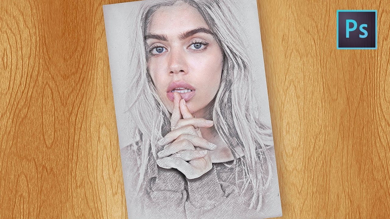 Photoshop tutorial how to create pencil sketch effect in photoshop cc