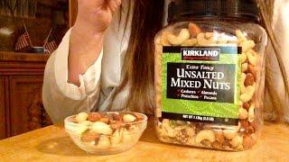 ASMR, Kirkland Signature, Extra Fancy Unsalted Mixed Nuts, Review, Info, Soft Spoken