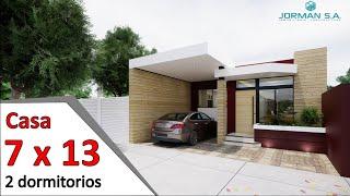 modelos de casas pequeñas y bonitas Casa 7x13 metros YouTube