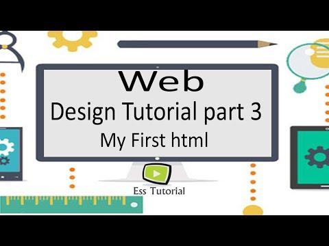 Web Design and Development bangla tutorial part 3, First html code, html bangla tutorial  part 3 thumbnail