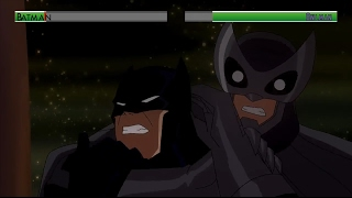Batman vs Owlman...with healthbars