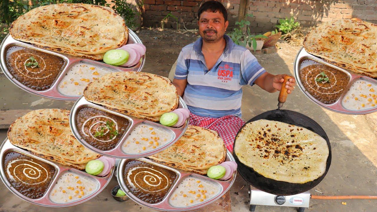 Dal Makhani & Butter Naan Recipe बिना तंदूर बिना यीस्ट गैसपर बनाए रेस्टोरेट जैसी नानरोटी और दाल मखनी