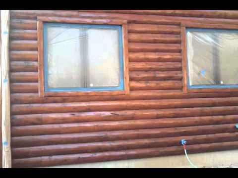 log home restoration staining fort wayne indiana youtube