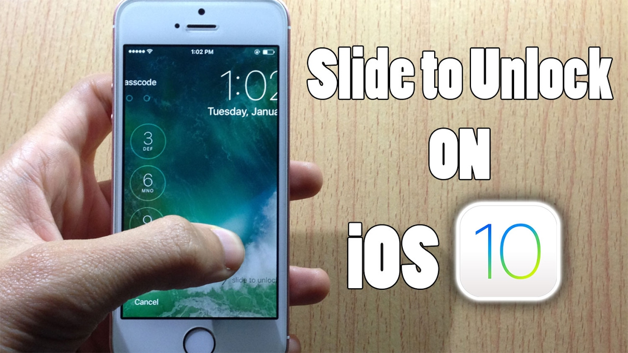 Bring Back Slide To Unlock Your Device IOS 10