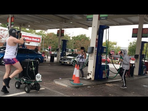 PETROL PUMP BODY PUMP (DISCOBOY PETROL STATION TAKEOVER) *IT GOT WEIRD*