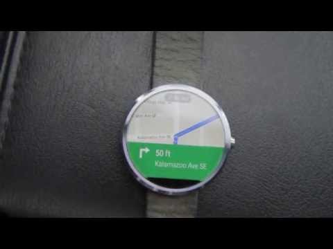 Moto 360 google maps navigation in action