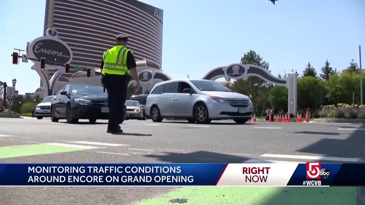 Officials monitor traffic conditions as new casino opens