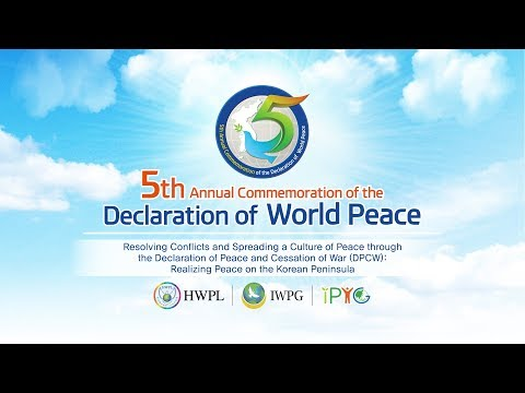 [EN] 5th Annual Commemoration of the Declaration of World Peace