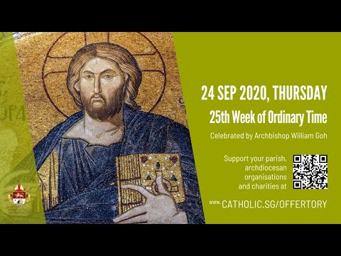 Catholic Weekday Mass Today Online - Thursday, 25th Week of Ordinary Time
