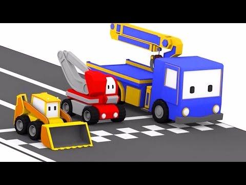 Tor Wyścigowy ucz się z Małymi Samochodzikiami buldożer, dźwig, koparka