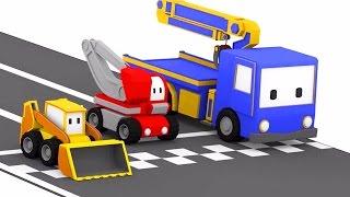 Tor Wyścigowy - ucz się z Małymi Samochodzikiami: buldożer, dźwig, koparka