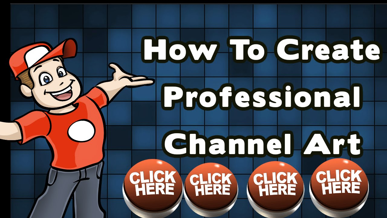 How to create your professional youtube channel art! online ...
