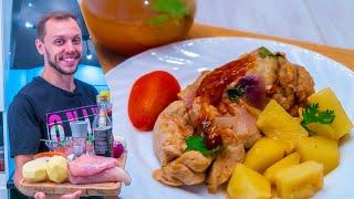 Куриная грудка под соусом с яблочным бульоном! Неожиданно вкусный рецепт!