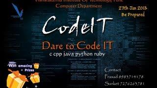 CodeIT - Computer Department Event - VIT, Pune