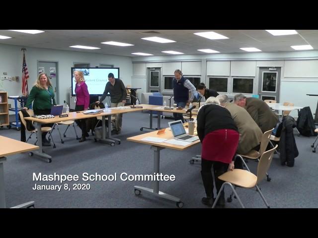 Mashpee School Committee 01 08 20