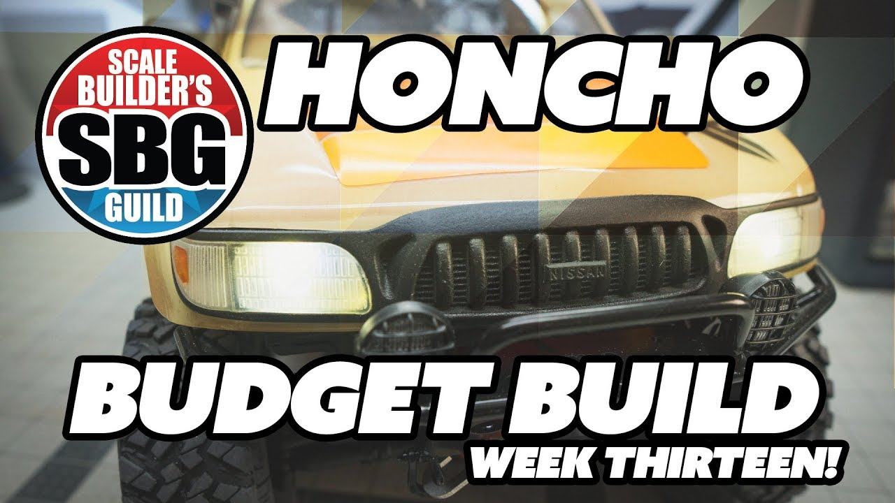 SCX10 2 Honcho $50 Budget Build Week 13 - Grille Giveaway and Bumper