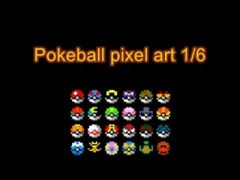 Pokeball Pixel Art Tutorial 1