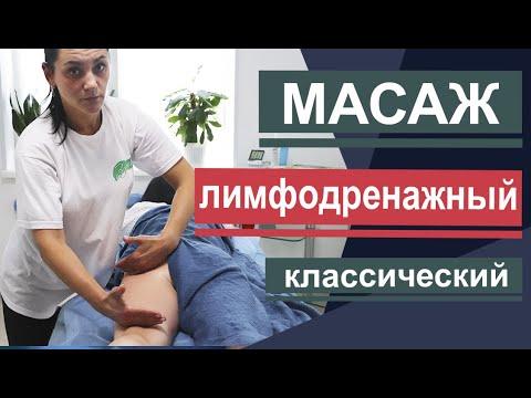 Лимфодренажный массаж. Снимаем отеки, объемы и вес тела. Lymphatic drainage massage.