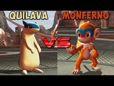 Pokemon Battle Revolution - Quilava Vs Monferno
