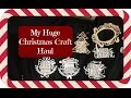 My Huge Christmas Haul   A  C Moore & Michales