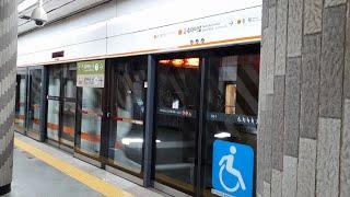 서울지하철 3호선 시운전 S3854 고속터미널역 진입,…