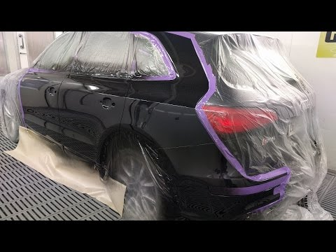 Audi SQ5 Spray Painting: Panther Black H8