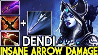 DENDI [Drow Ranger] Insane Arrow Damage Destroy Everything 7.22 Dota 2
