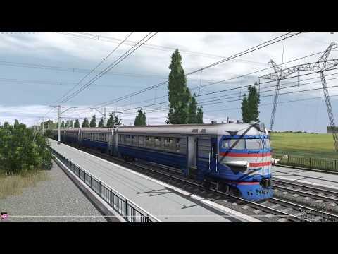 На электричке ЭР2 Trainz19.1440p