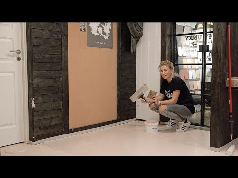 KABE Stone tutorial - How to get a concrete look on your floor or ...