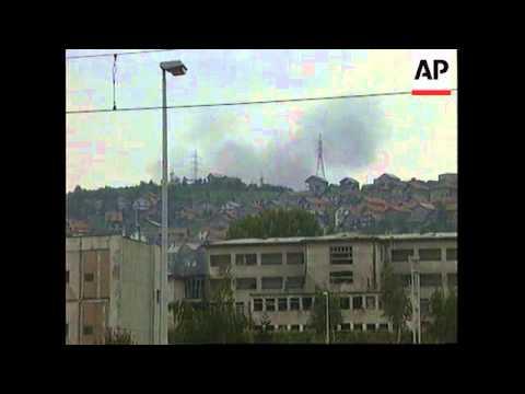 BOSNIA: SARAJEVO: NATO RESUME AIRSTRIKES AGAINST BOSNIAN SERBS