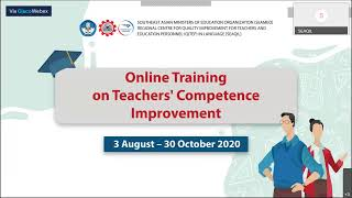 ONLINE TRAINING ON TEACHERS' COMPETENCE IMPROVEMENT