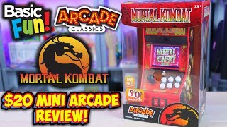 $20 Mini Mortal Kombat Arcade Machine - Basic Fun Arcade Classics #15 Review!