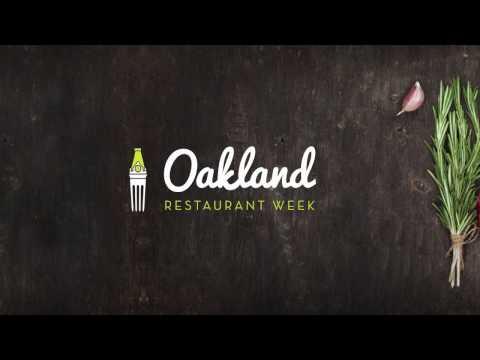 Oakland Restaurant Week 2017