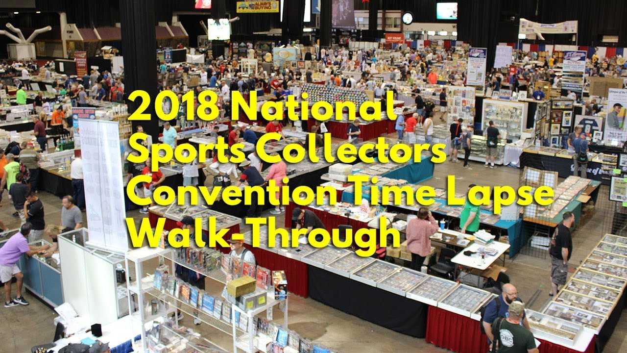 2018 National Sports Collectors Convention Show Floor Time Lapse Walk Through