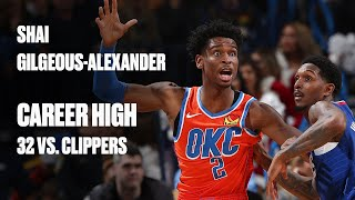 Shai Gilgeous-Alexander Scores Career-High On Former Team, Finishes With 32 Points