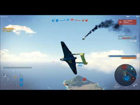 самолет вампир, De Havilland DH.100 Vampire F.1, в игре World Of Warplanes, Let's Play Fragmovie
