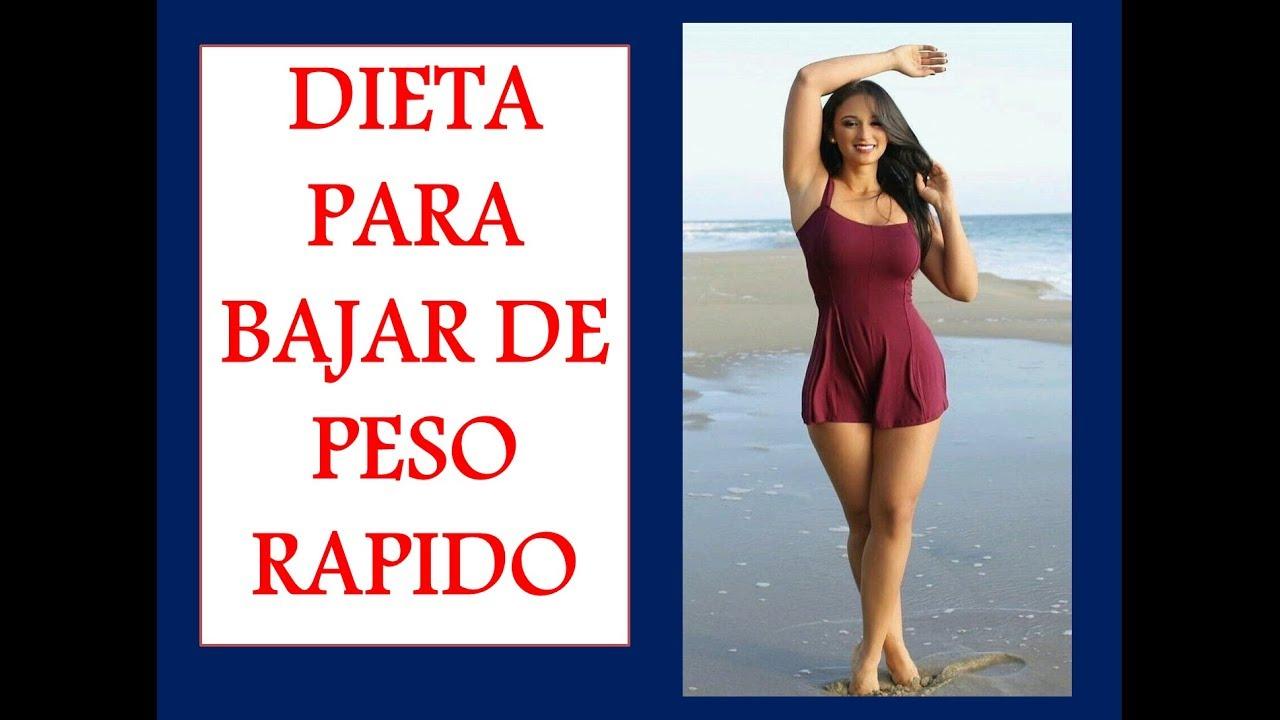 Dieta para bajar de peso rapido en una semana sin rebote