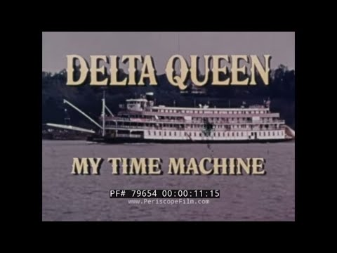 1970s DELTA QUEEN MISSISSIPPI STEAMBOAT PROMOTIONAL FILM 79654
