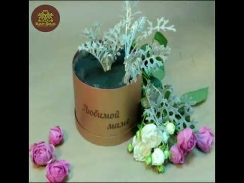 Цветы в коробке как делают