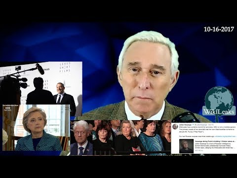 Roger Stone Discusses Hillary & Bill Clinton, Wikileaks, News And Current events October 16th 2017