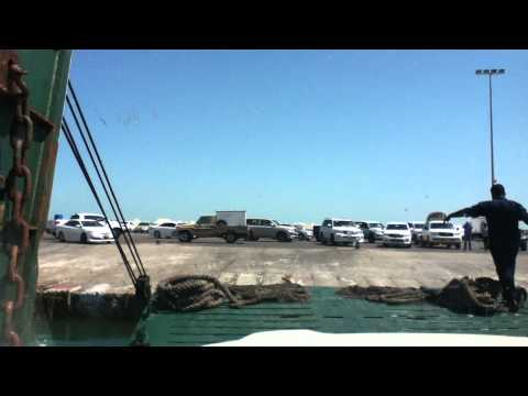 Transport from Maseerha to Shaana'a Island Oman 2014 off loading