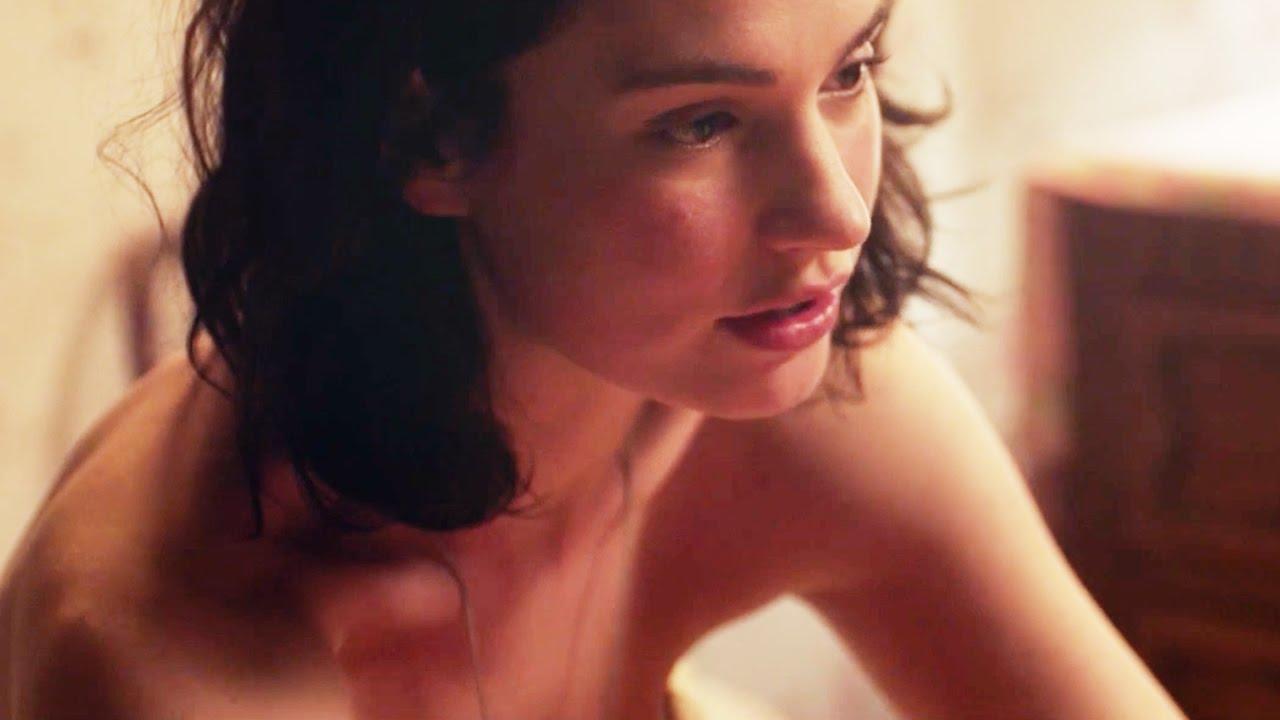 Naked girl with see thru thong