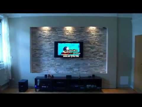 Tv wand selber bauen laminat  Selbstbau einer Fernseh LED Multimedia Wand mit Laminat - YouTube
