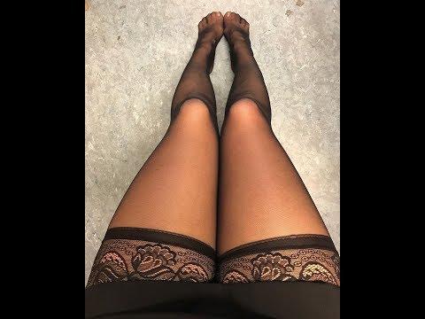 Девушки В черных чулках, Девушки в Колготках с имитацией чулок 4, Sexy Girls.