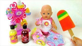 Куклы #Бебибон Ванна с МОРОЖЕНЫМ Купаем АЛИСУ! Игрушки Для девочек Играем Как Мама