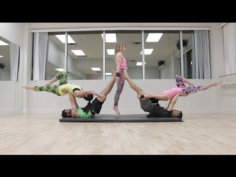 3 person acro yoga  doovi