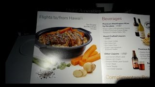 Alaska Airlines Boeing 737 Menu & Flight Amenities