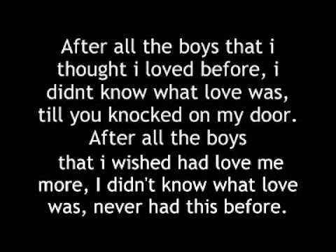 Keri Hilson - All the boys (Lyrics) - YouTube