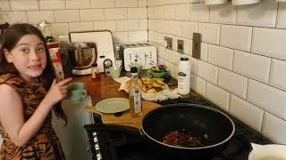The super sisters. Chef Alina making chili paneer at home